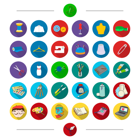 Art, textiles, equipment and other web icon in cartoon style. Light, attributes, accessories, icons in set collection. Illustration