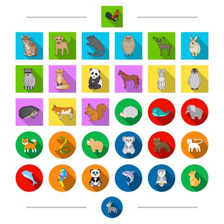 Ecología, protección, aves y otro icono de la web en estilo de dibujos animados. Exótico, zoológico, safari, iconos en la colección de conjunto. Foto de archivo - 88555155