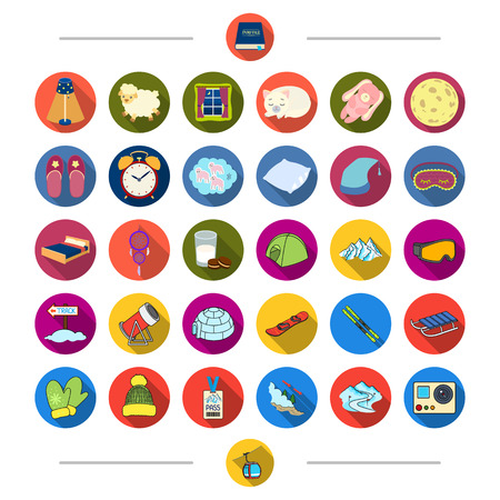 Accessories, winter, resort and other web icon in cartoon style. Signboard, sleep, resticons in set collection.,