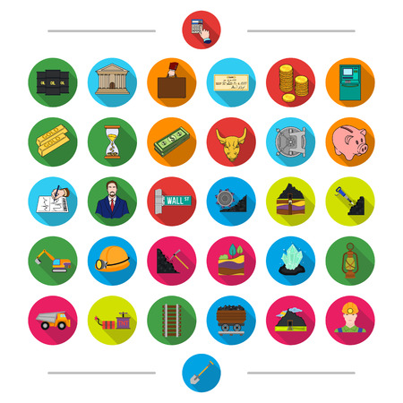 Shovel, industry, Business and other web icon in cartoon style. Car, coal, miner icons in set collection.