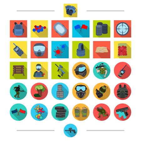 Recreación, entretenimiento, hobby y otro icono de la web en estilo de dibujos animados. Agua, juego, arma, iconos en la colección de conjunto. Foto de archivo - 87468892