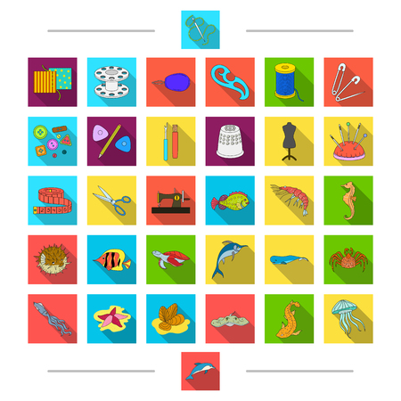 Animals, accessories, atelier and other web icon in cartoon style. Octopus, ramp, ocean, icons in set collection. Illustration
