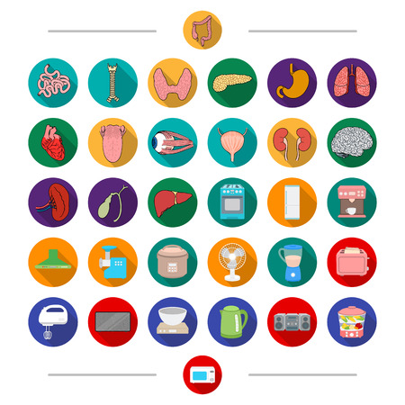 Equipment, machinery, medicine and other web icon in cartoon style. Steamer, oven, kitchen icons in set collection.