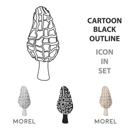 Mushroom symbol stock vector illustration.