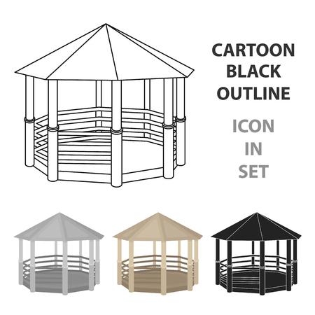 Icône de gazebo. Illustration de vecteur stock symbole parc.
