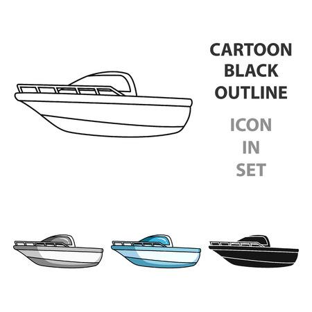 Ilustración de vector de barco de metal.