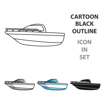 Metal boat vector illustration.