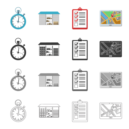 Equipment, attributes, mail and other  icon in cartoon style.Delivery, parcel, warehouse, icons in set collection Illustration