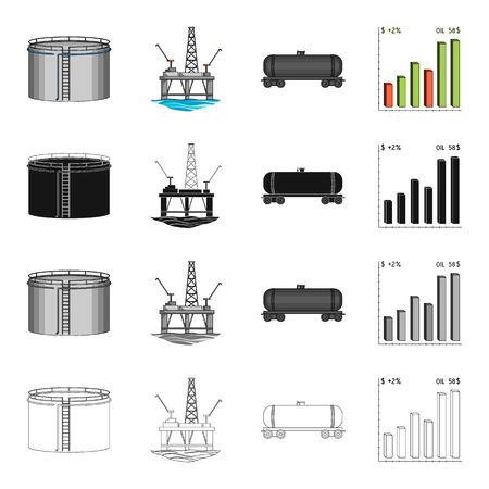 potential: Industry, enterprises, plant and other  icon in cartoon style.Machinery, scale, growth, icons in set collection
