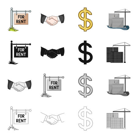 biz, occupancy and other  icon in cartoon style.Purchase, sale, office, icons in set collection