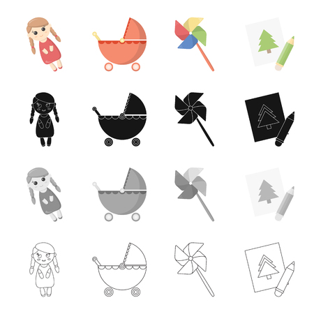 baby toy: Recreation, care, entertainment and other  icon in cartoon style.Attributes, accessories, facilities, icons in set collection Illustration