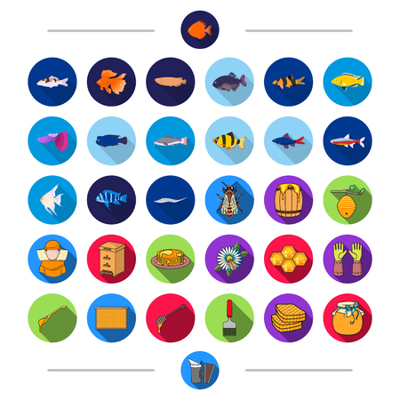 Fishing, hunting, industrial and other  icon in cartoon style. Tools, nature, recreation, icons in set collection