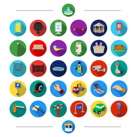 Parking, attributes, tools and other  icon in cartoon style. Transport, rules, traffic, icons in set collection Illustration