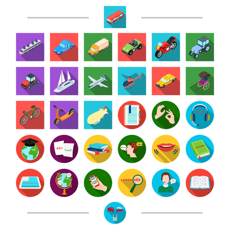 Land, travel, tourism and other  icon in cartoon style.t Tansport, sea, air, icons in set collection. Иллюстрация