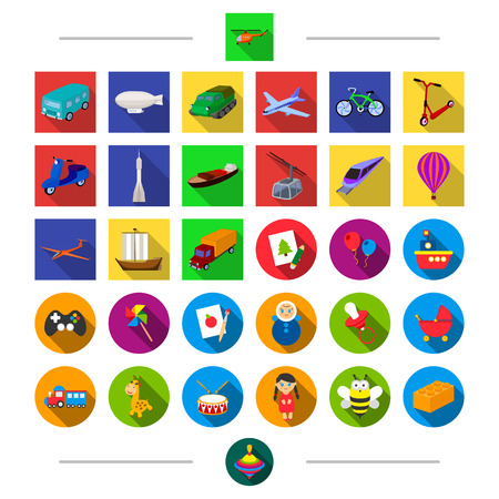 Land, transportation, travel and other web icon in cartoon style. Dames, children, transport, icons in set collection.