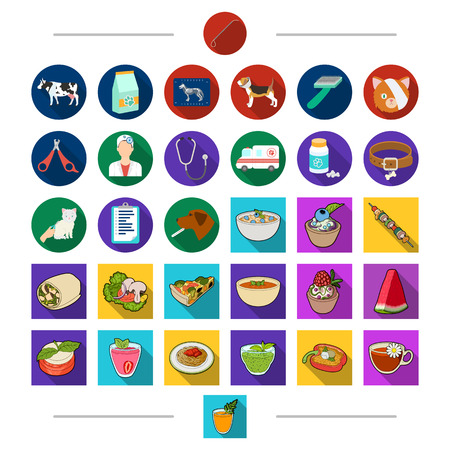 Restaurant, Animals, technology and other web icon in cartoon style. Dishes, treats, cafe, icons in set collection. Illustration