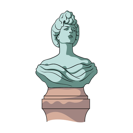 Monument, single icon in cartoon style.Monument vector symbol stock illustration web.