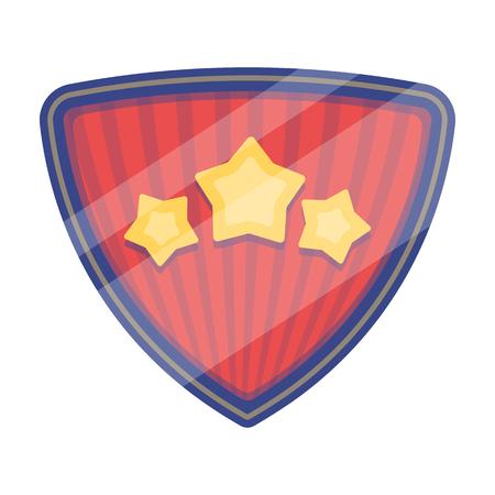 Shield, single icon in cartoon style.Shield, vector symbol stock illustration web.