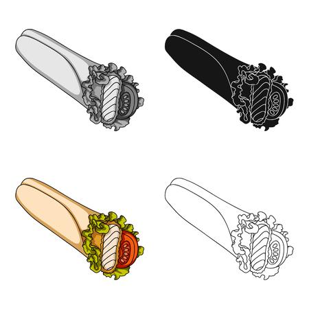 leaf logo: Lavash, single icon in cartoon style.Lavash, vector symbol stock illustration web. Illustration