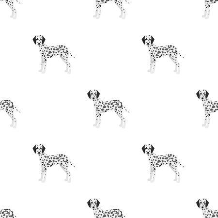 Dálmata, único icono en estilo de dibujos animados. Web de ilustración de stock de símbolo de vector dálmata.