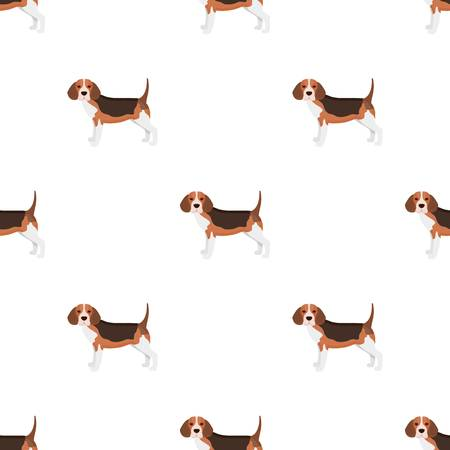 Beagle, solo icono en estilo de dibujos animados. Beagle, vector símbolo stock ilustración web.