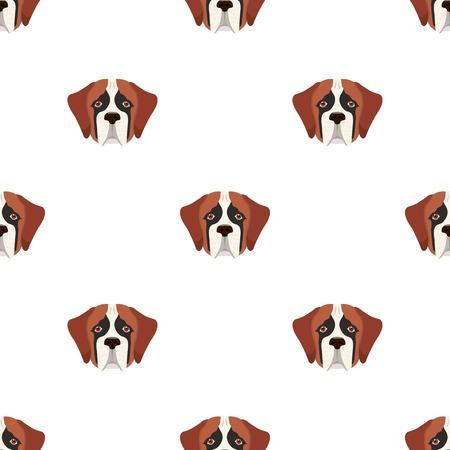Breed of a dog, St. Bernard.Muzzle of St. Bernard single icon in cartoon style vector symbol stock illustration web.