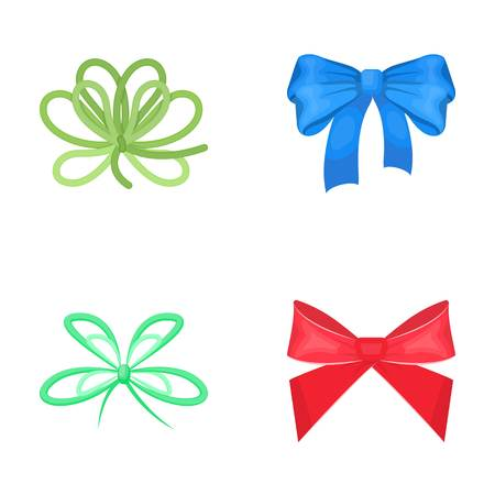 Bow, ribbon, decoration, and other  icon in cartoon style. Gift, bows, node icons in set collection