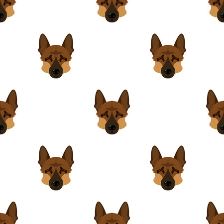 Dog breed, German Shepherd.Muzzle of the German Shepherd single icon in cartoon style vector symbol stock illustration web.