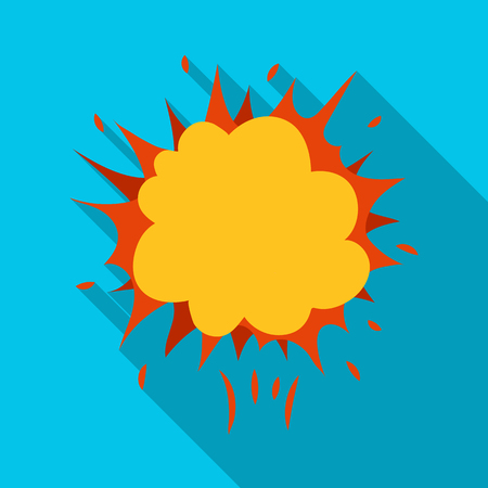 Explosion, single icon in flat style.Explosion, vector symbol stock illustration . Illustration