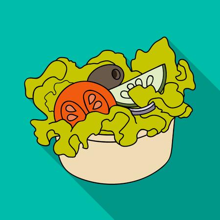 Bowl, single icon in flat style.Bowl, vector symbol stock illustration . Illustration