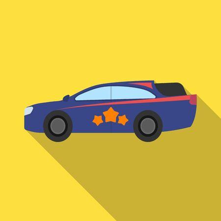 Car, single icon in flat style.Car, vector symbol stock illustration . Ilustração