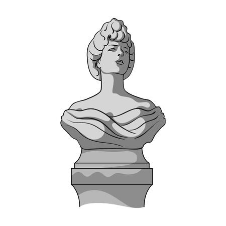Monument, single icon in monochrome style.Monument vector symbol stock illustration web. Иллюстрация