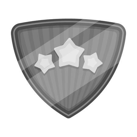 Shield, single icon in monochrome style.Shield, vector symbol stock illustration web.