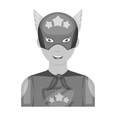 Super hero single icon in monochrome style. Super hero vector symbol stock illustration web.