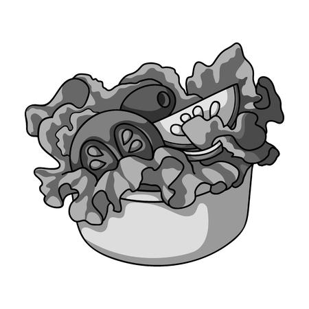 Bowl, single icon in monochrome style.Bowl, vector symbol stock illustration web.