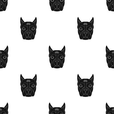 A dog single icon in black style vector symbol stock illustration web. Ilustrace
