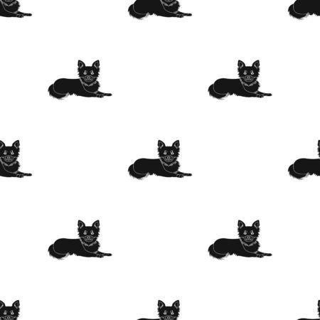A dog single icon in black style vector symbol stock illustration web. 向量圖像