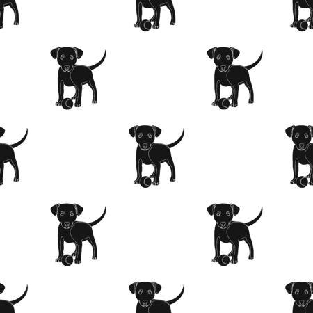 Dog care single icon in black style vector symbol stock illustration web.