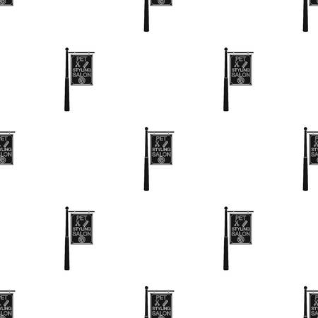 Pet care single icon in black style vector symbol stock illustration web. Ilustrace