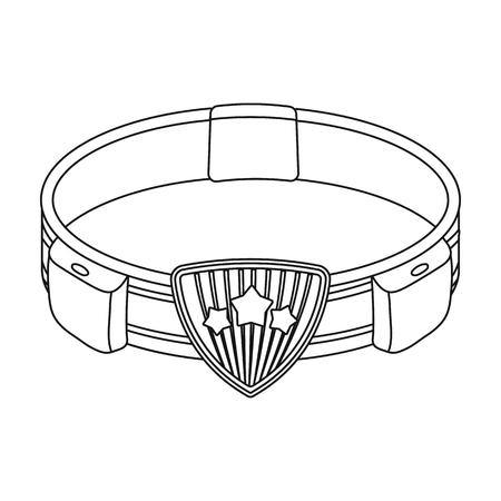 Belt, single icon in outline style.Belt, vector symbol stock illustration web. Ilustração