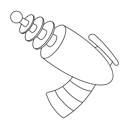 Weapons single icon in outline style.Weapons vector symbol stock illustration web. Ilustração