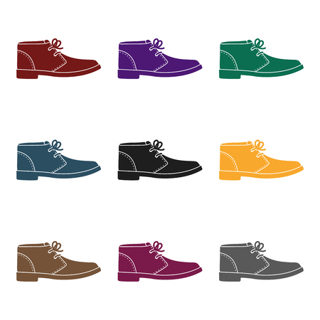 Oxfords icon in  black style isolated on white background. Shoes symbol stock vector illustration. Stock Photo