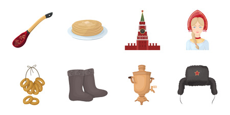 Russia Attractions and features icon Illustration