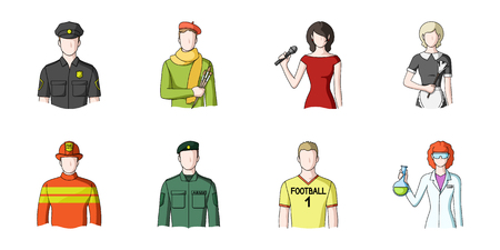 People of different professions icons set collection