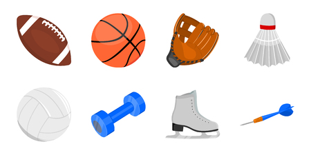 Different kinds of sports icons in set collection for design. Sport equipment vector symbol stock  illustration. 版權商用圖片 - 88903676