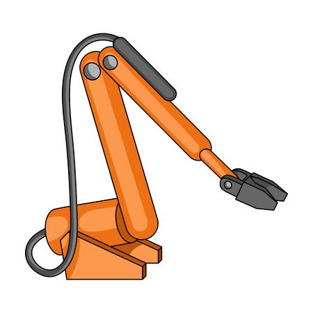 Machine single icon in cartoon style. Illustration