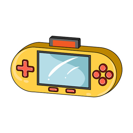 Game console single icon in cartoon style for design.Car maintenance station vector symbol stock web illustration.