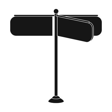 Sign single icon in black style. Sign vector symbol, stock illustration web. Illustration