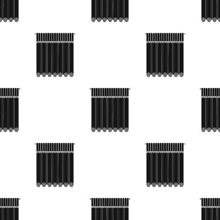 Curtains, single icon in black style.Curtains vector symbol stock illustration .
