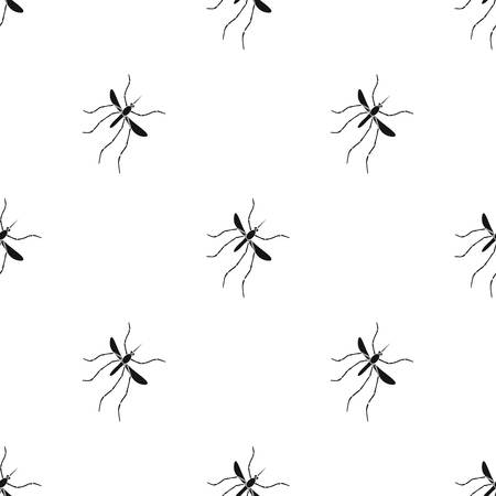 Mosquito, Dipterous insect. Bloodsucking insect, mosquito single icon in black style vector symbol stock isometric illustration web. Illustration